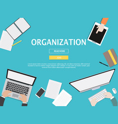 organization graphic for business concept vector image