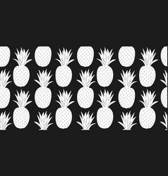 pineapple seamless pattern hand drawn fruit vector image