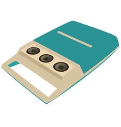 Portable record player vector