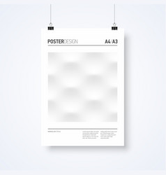 poster design abstract template in minimalism vector image