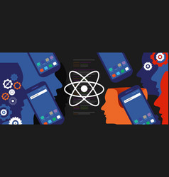 react native mobile programming coding developer vector image