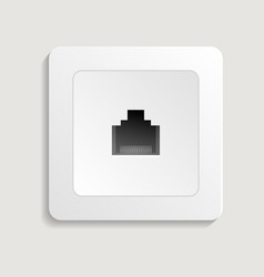 Realistic network outlet icon vector