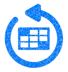 Refresh calendar table grunge icon vector