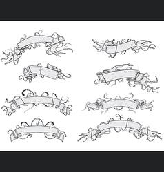 RIBBONS - Hand Drawn vector image