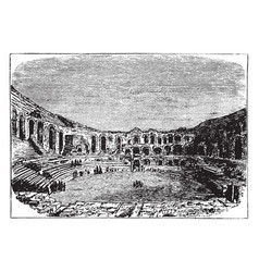 Roman amphitheatre at arles in the southern vector