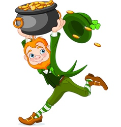 Running Leprechaun vector image