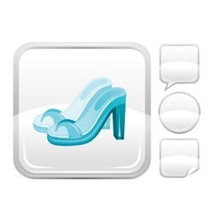 Sea beach and travel icon with fashion clogs on vector image