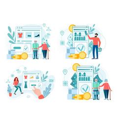 set concept online shopping vector image