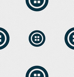 Sewing button sign Seamless pattern with geometric vector