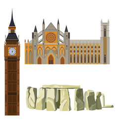 Sightseeing of great britain westminster abbey vector