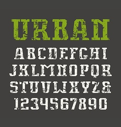 Slab serif font in urban style vector image