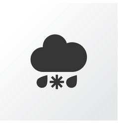 Sleet icon symbol premium quality isolated wet vector