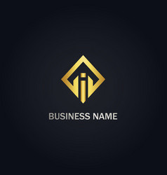 square initial i business logo vector image