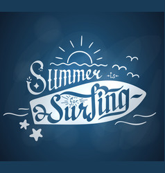 summer for serfing vector image