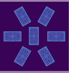 Tarot card spread reverse side vector