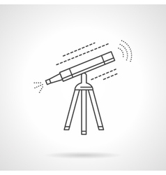 Telescope flat thin line icon vector image