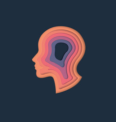 The head of a man and layers vector