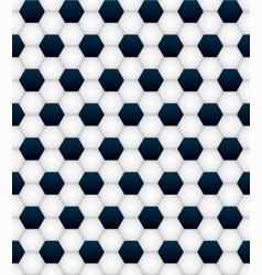 Tiled soccer ball pattern background vector