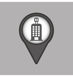 Travel concept location map hotel pin design vector