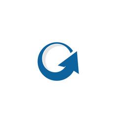 Up letter g logo icon design vector