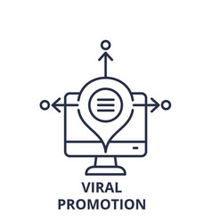 viral promotion line icon concept viral promotion vector image