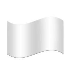 white flag waving on a white isolated background vector image