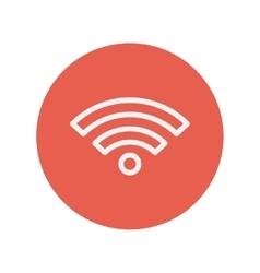 Wifi thin line icon vector image