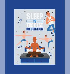 yoga people yogi character training vector image