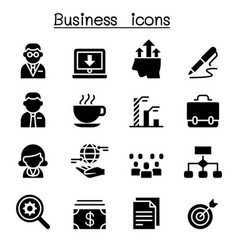Business management icon set vector