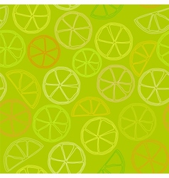 citrus outline seamless pattern vector image vector image