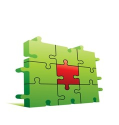 puzzle wall vector image vector image