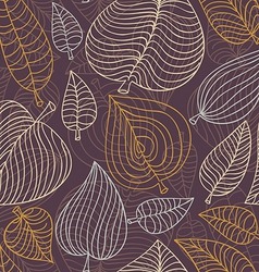 seamless pattern with leaves - vector image