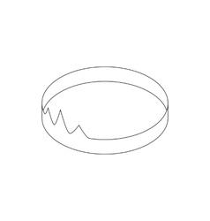 Diadem icon isometric 3d style vector image