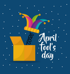jester hat april fools day dots background vector image