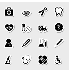 Medical Icons Set as Labels vector image