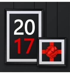 modern christmas background Invitation of vector image
