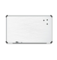 whiteboard with marker and magnets vector image