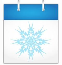 Winter calendar page vector image