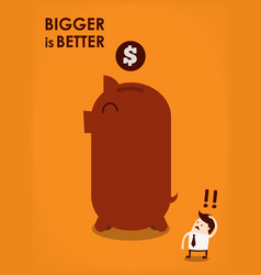 big piggy bank vector image vector image