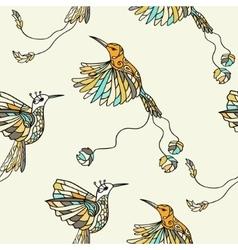Colored fantasy tropical bird vector
