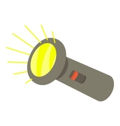Flashlight icon isometric 3d style vector image vector image