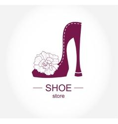 Logo shoe store shop fashion collection boutique vector image vector image