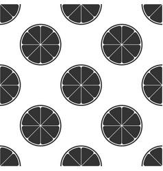 orange in a cut citrus fruit seamless pattern vector image