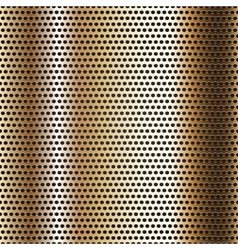 Seamless chrome metal surface background vector image vector image