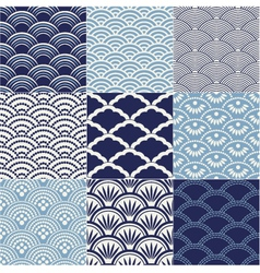 seamless ocean wave pattern vector image