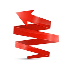 Abstract 3d Red Arrow Icon vector image vector image