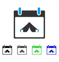 Camping calendar day flat icon vector