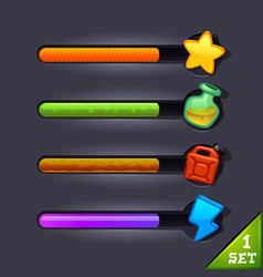 game resource bar-set 1 vector image
