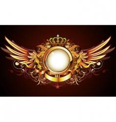 heraldic golden frame vector image vector image