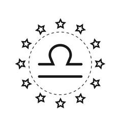 Libra sign of the zodiac flat symbol horoscope vector